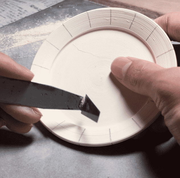 carving the rim